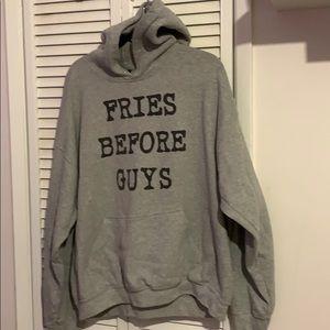 Tops - Fries Before Guys hooded sweatshirt